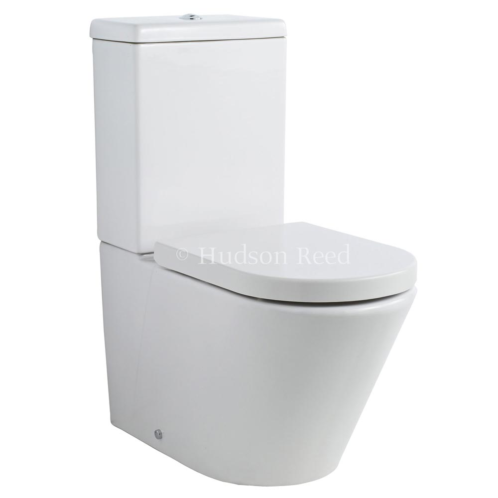 Hudson Reed Round Close Coupled Toilet profile large image view 1