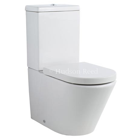 Hudson Reed Round Close Coupled Toilet