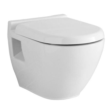 Hudson Reed - Round Wall-Hung Pan with top-fix Soft-Close Seat - CPA004