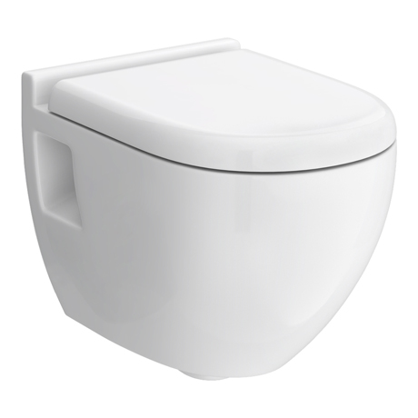 Hudson Reed Round Wall Hung Pan + Top-Fix Soft-Close Seat - CPA004