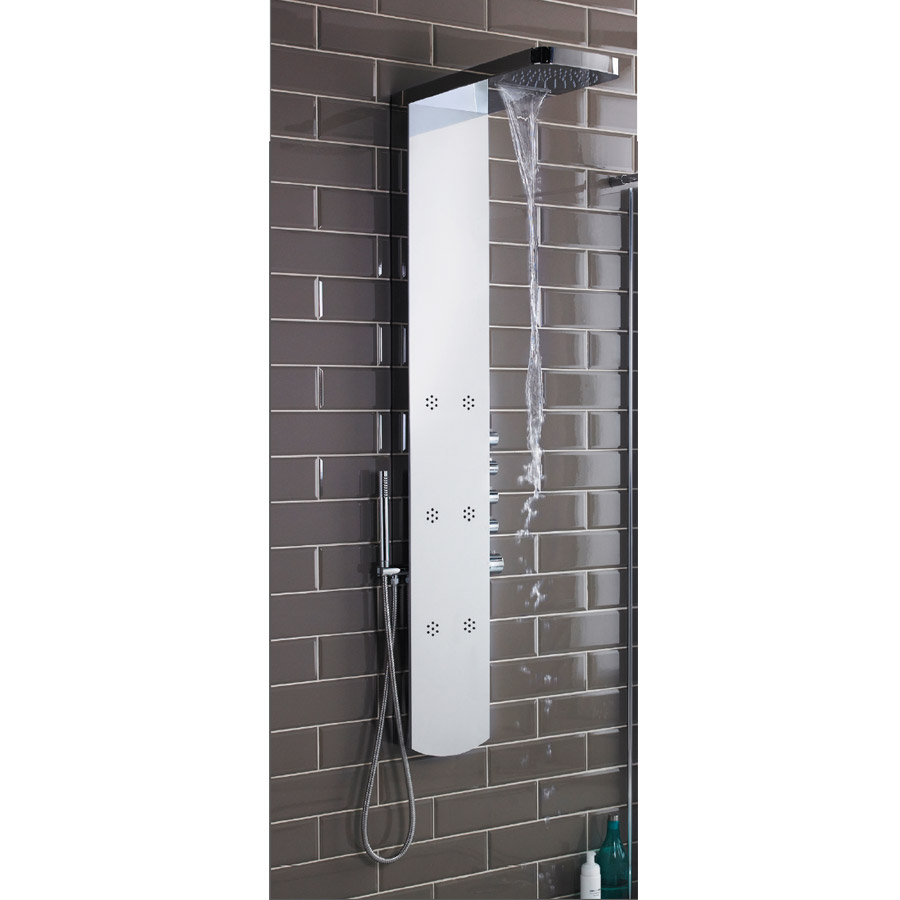 Hudson Reed - Shimmer Thermostatic Shower Panel - AS345 profile large image view 2