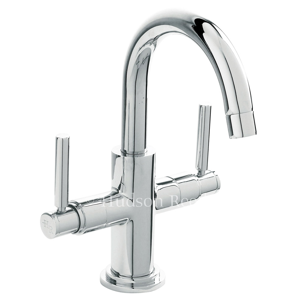 Hudson Reed - Tec Crosshead & Lever Cruciform Cloakroom Basin Mixer with waste - PN355 profile large image view 2