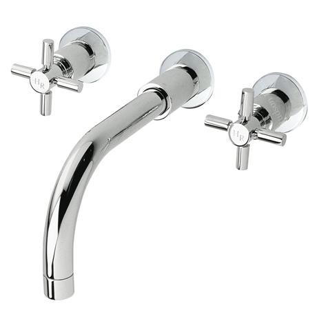 Hudson Reed - Tec Crosshead Wall Mounted Basin Mixer - TEX317