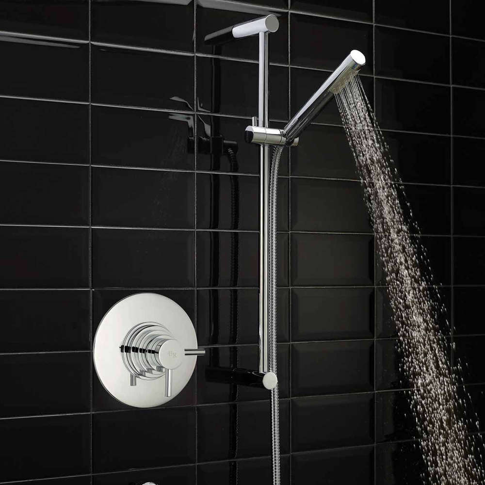 Hudson Reed Tec Dual Concealed Thermostatic Shower Valve - A3192C profile large image view 2