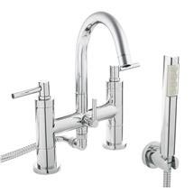 Hudson Reed - Tec Lever Bath Shower Mixer with swivel spout, shower kit & wall bracket - TEL354 Medi