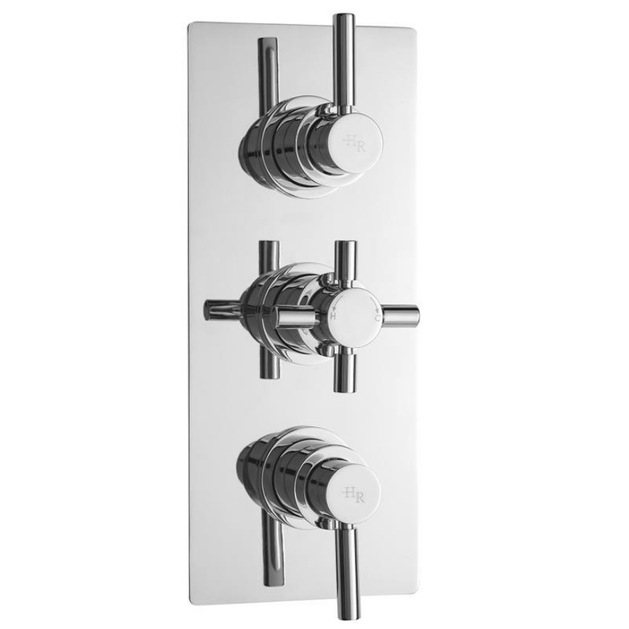 Hudson Reed Tec Pura Plus Triple Concealed Thermostatic Shower Valve - A3003 Large Image