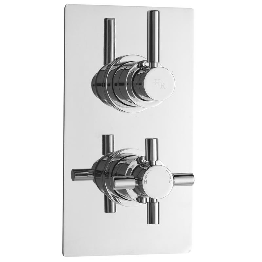 Hudson Reed Tec Pura Twin Concealed Thermostatic Shower Valve - A3003V Large Image