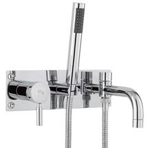 Hudson Reed Tec Single Lever Wall Mounted Bath Shower Mixer - Chrome - PN350 Medium Image