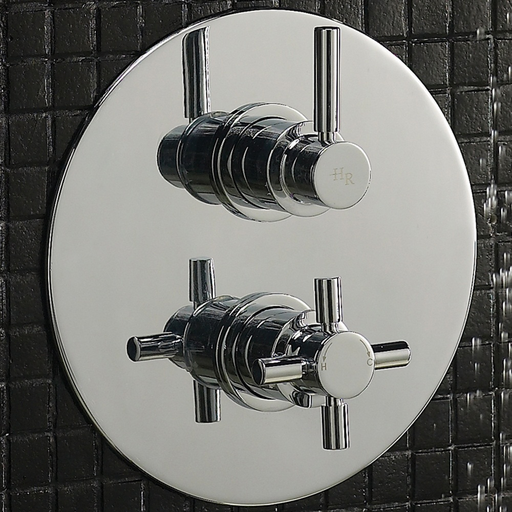 Hudson Reed Tec Twin Concealed Thermostatic Shower Valve - A3098 profile large image view 2