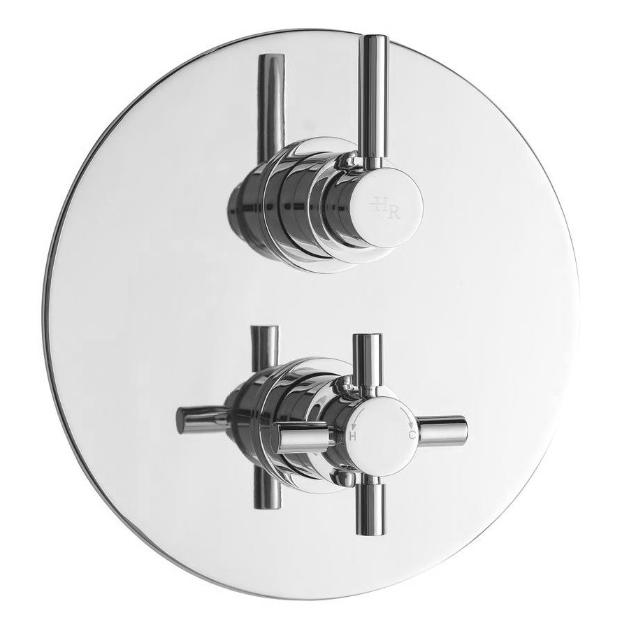 Hudson Reed Tec Twin Concealed Thermostatic Shower Valve - A3098 Large Image