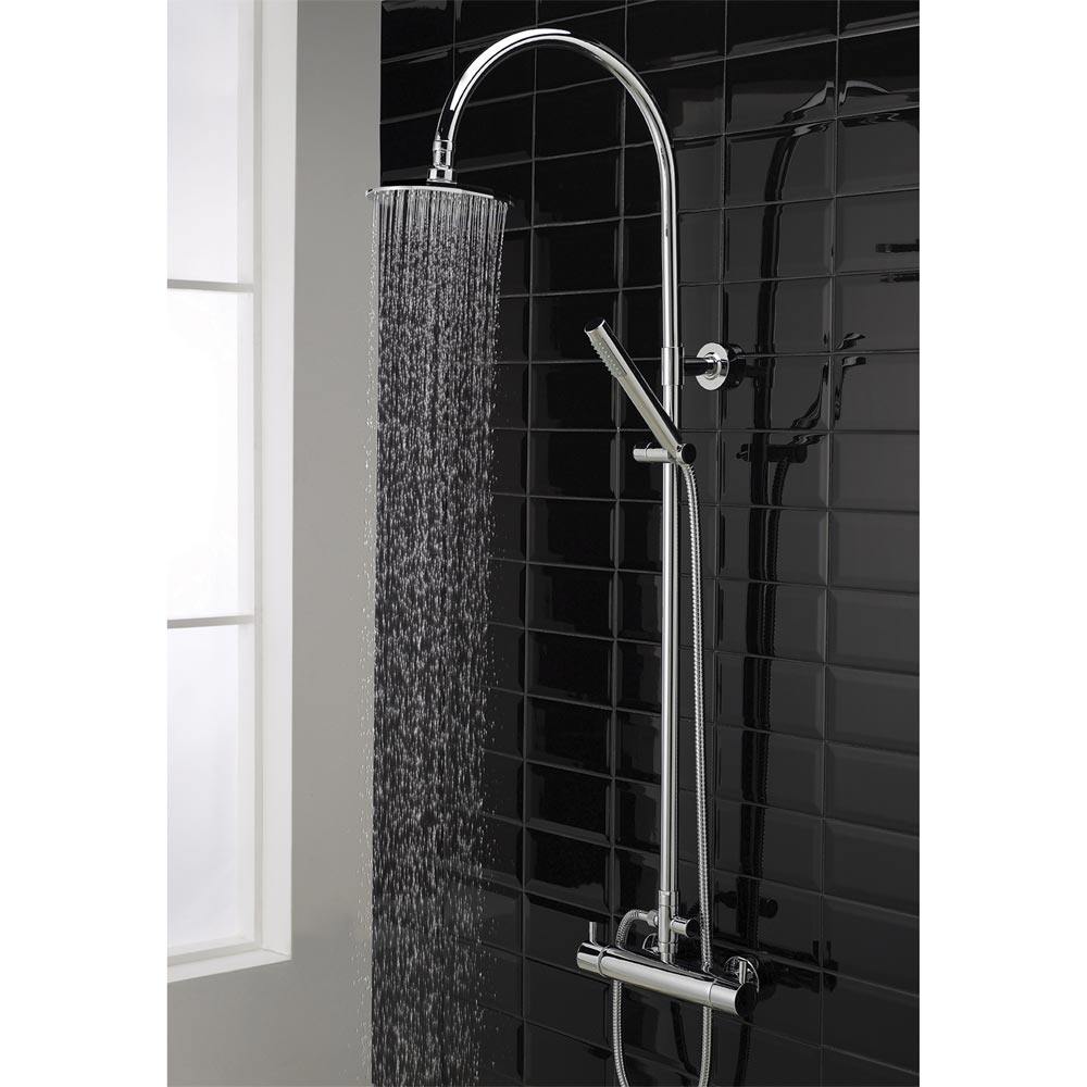 Hudson Reed Thermostatic Bar Valve with Eternity Shower Kit - Chrome profile large image view 3