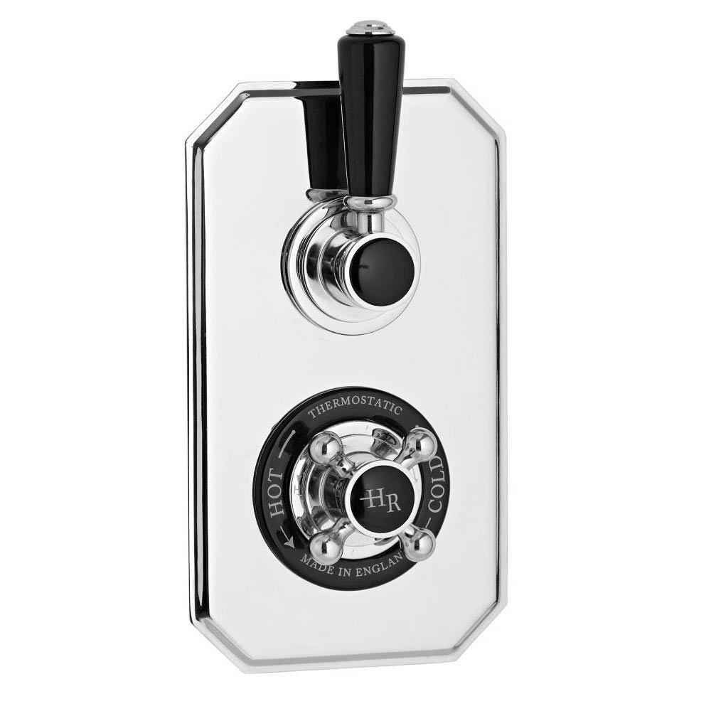 Hudson Reed Topaz Black Twin Concealed Thermostatic Shower Valve - BTSVT002