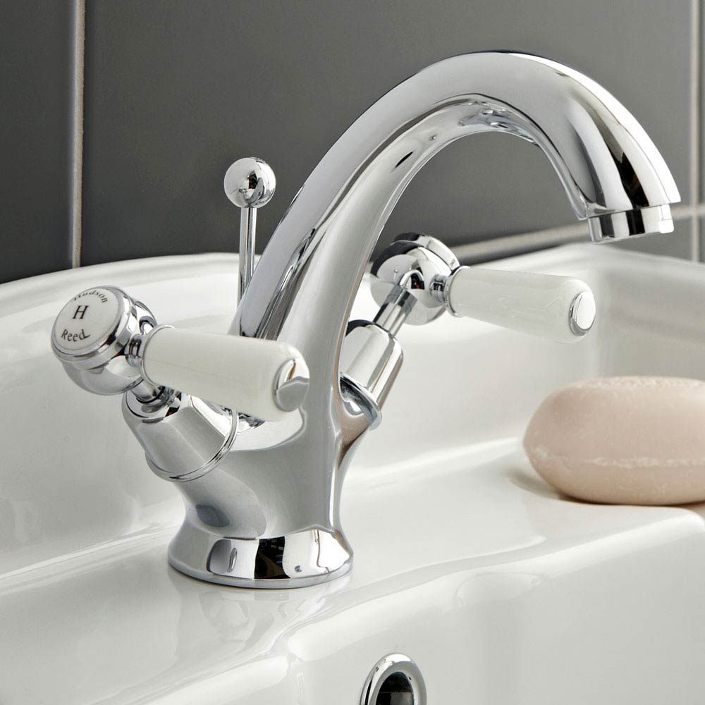 Hudson Reed Topaz Lever Mono Basin Mixer Tap + Pop Up Waste profile large image view 3