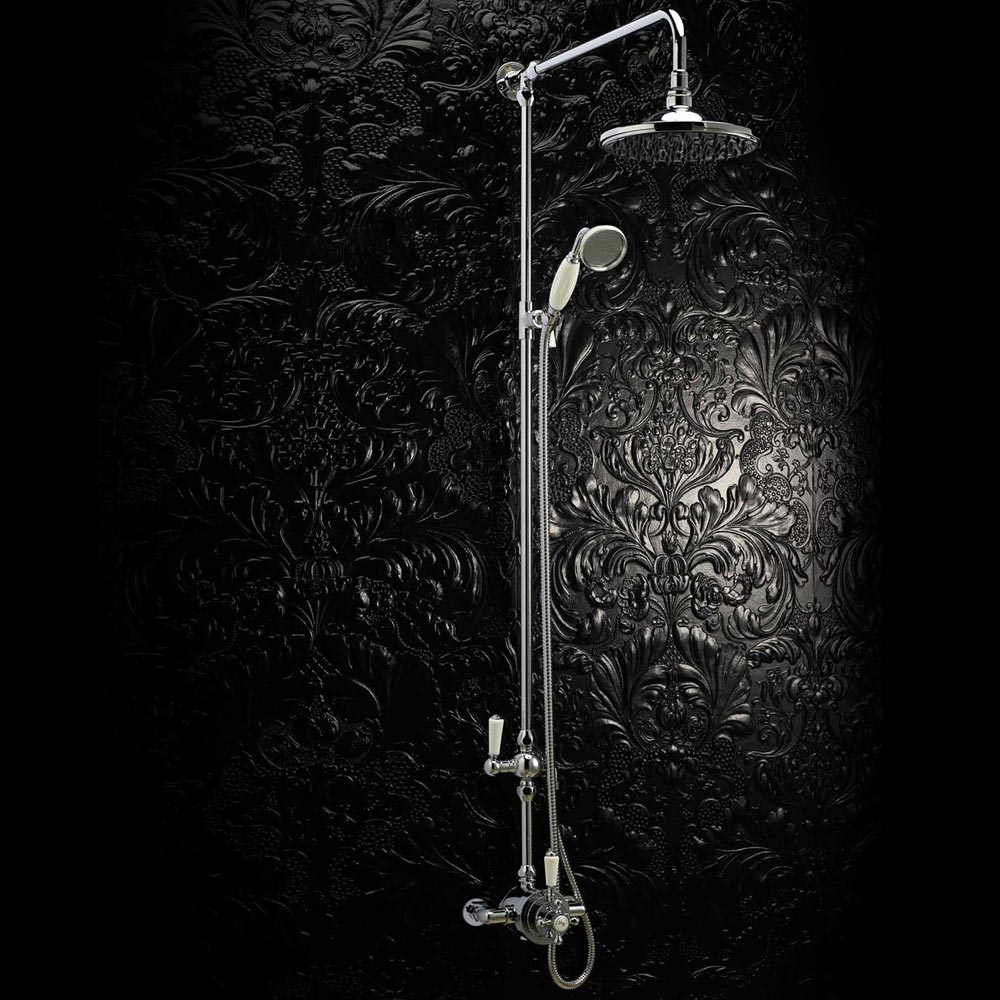 Hudson Reed Traditional Dual Exposed Thermostatic Shower Valve - Chrome - A3091E Profile Large Image