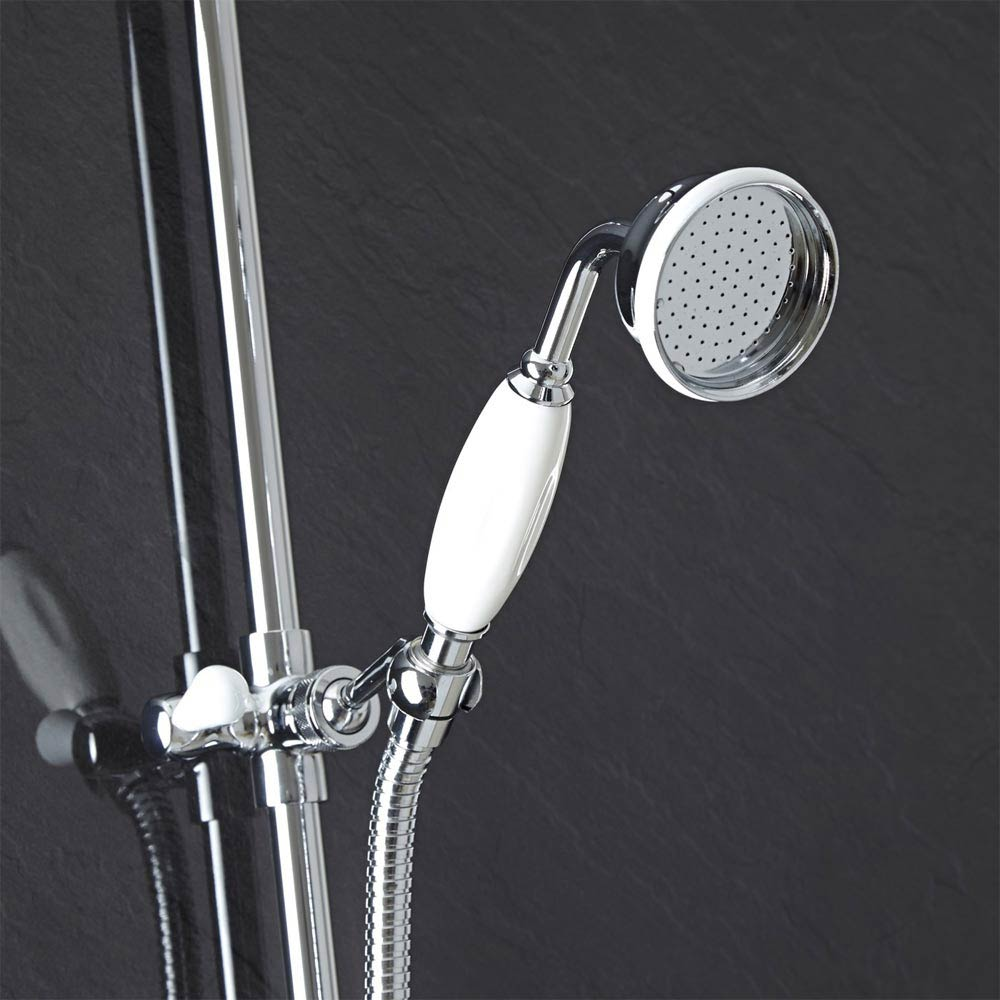 Hudson Reed Traditional Exposed Shower Valve, Riser Kit, Diverter & Shower Rose profile large image view 4