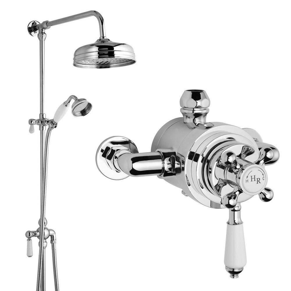 Hudson Reed Traditional Exposed Shower Valve, Riser Kit, Diverter & Shower Rose Large Image