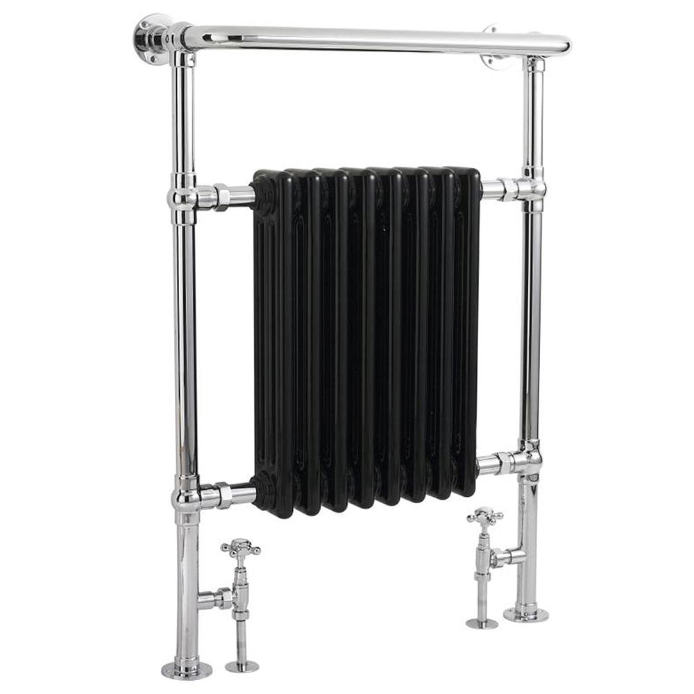Hudson Reed Traditional Marquis Heated Towel Rail - Black - HT702 Large Image