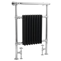 Hudson Reed Traditional Marquis Heated Towel Rail - Black - HT702 Medium Image