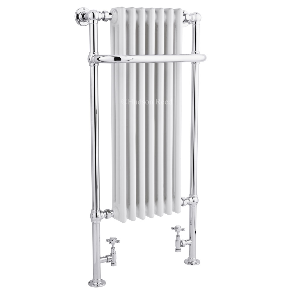 Hudson Reed - Traditional Radiator Chrome & White 1130 x 553mm - HT339 Large Image
