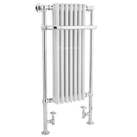Hudson Reed - Traditional Radiator Chrome & White 1130 x 553mm - HT339