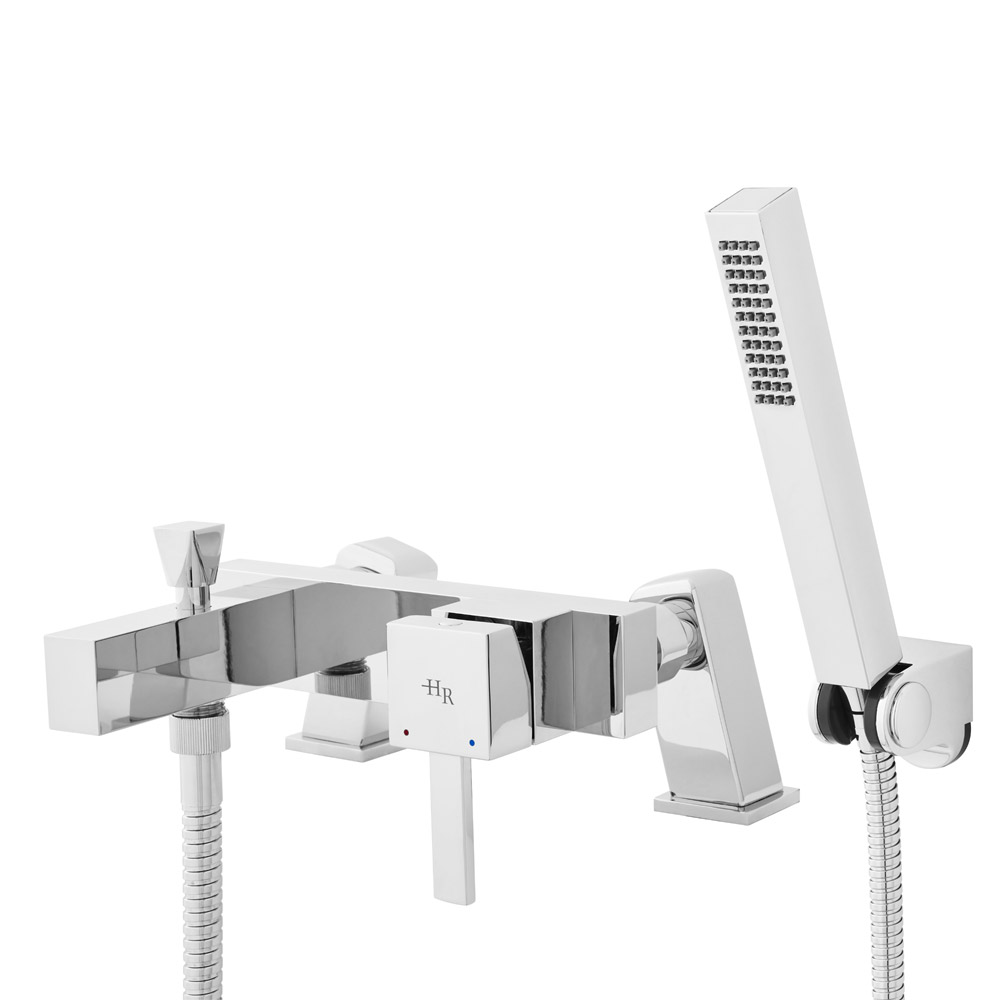 Hudson Reed - Vesper Wall or Deck Mounted Bath Shower Mixer with Shower Kit - TVP304 Profile Large Image