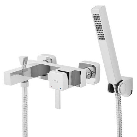 Hudson Reed - Vesper Wall or Deck Mounted Bath Shower Mixer with Shower Kit - TVP304