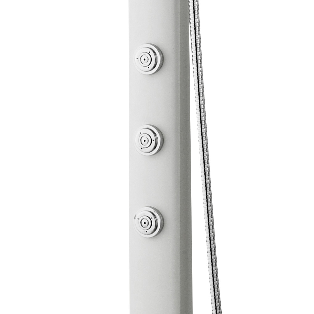 Hudson Reed - White Domino Thermostatic Bar Valve & Shower Kit - A3703 Feature Large Image