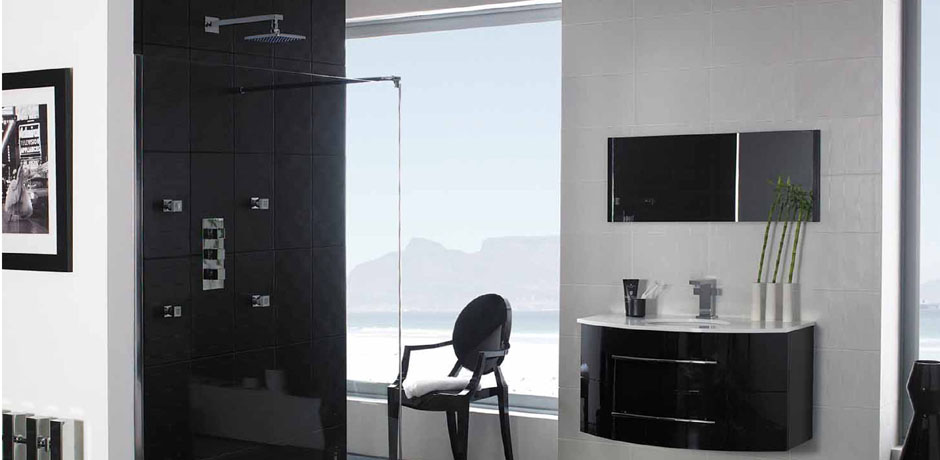 Hudson Reed black modern Bathroom