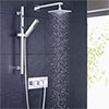 Hudson Reed - Kubix Twin Concealed Valve Full Shower Kit profile small image view 1
