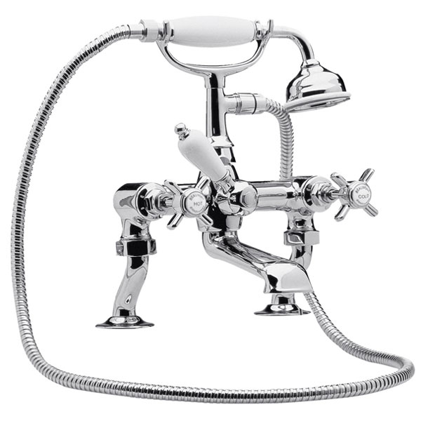 Nuie Luxury Beaumont 3/4 Inch Cranked Bath Shower Mixer - Chrome - I303X