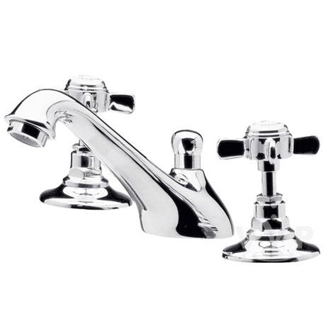 Ultra Traditional Beaumont 3 Tap Hole Deck Basin Mixer - Chrome - I307X