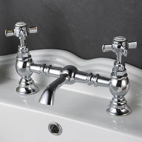 Ultra Luxury Beaumont Bridge Basin Mixer - Chrome - I315X Profile Large Image