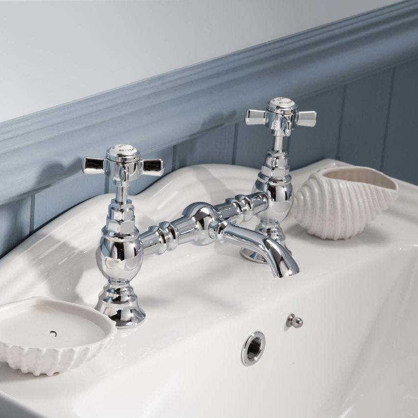 Ultra Luxury Beaumont Bridge Basin Mixer - Chrome - I315X profile large image view 3