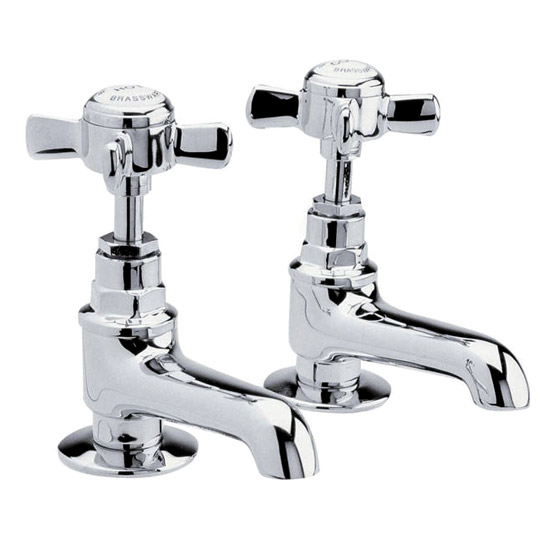 Ultra Traditional Beaumont Long Nose Bath Taps - Chrome - I322XE Large Image