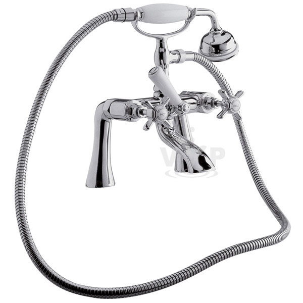 Ultra Traditional Beaumont 3/4 Inch Bath Shower Mixer w/ Shower Kit - I354X profile large image view 1