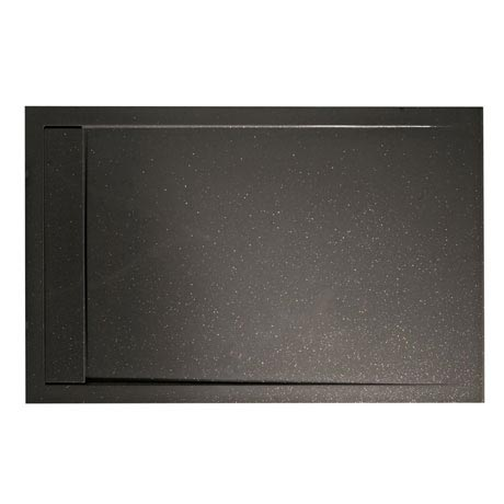 Roman - Infinity 40mm Low Profile Stone Rectangular Shower Tray - Shimmer Grey - Various Size Option