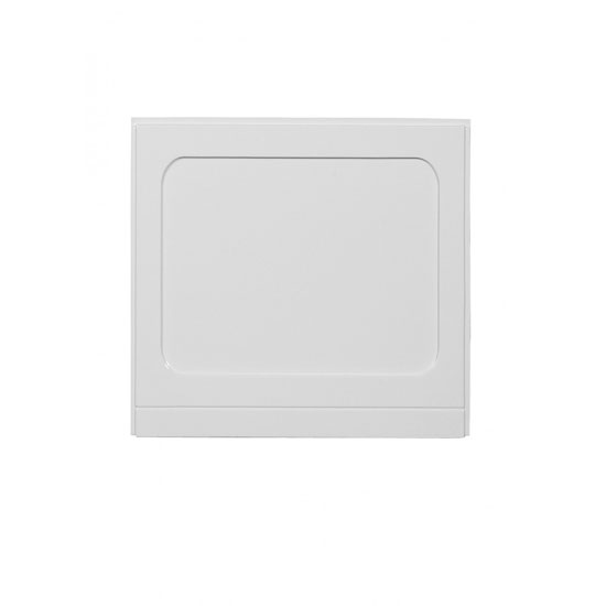 Fresssh - Ikon 750mm End Bath Panel - 3mm Thick - White - 352842WT Large Image