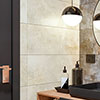 Industrial Metal Effect Wall and Floor Tiles - Beige - 300 x 600mm Small Image