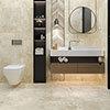 Industrial Metal Effect Floor Tiles - Beige - 600 x 600mm Small Image