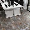 Industrial Metal Effect Floor Tiles - Grey - 600 x 600mm Small Image
