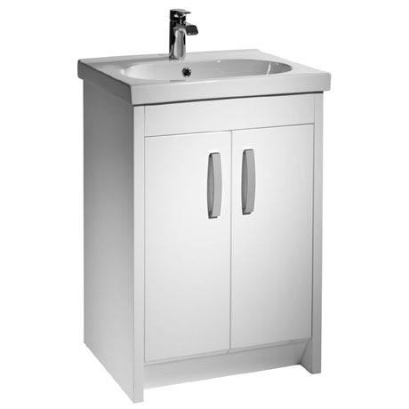 Tavistock Impact 600mm Freestanding Unit & Basin - Gloss White
