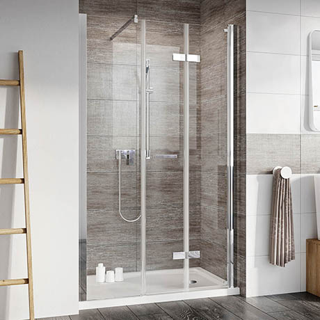 Roman Innov8 Alcove Bi-Fold Shower Door with In-Line Panel