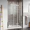 Roman Innov8 Alcove Bi-Fold Shower Door with In-Line Panel profile small image view 1