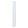Hudson Reed 600 Watt Infrared Heating Panel H1800 x W300mm - White Glass - INF003 profile small image view 1