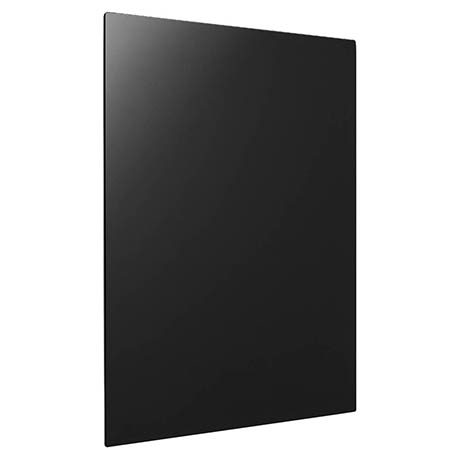 Hudson Reed 450 Watt Infrared Heating Panel H600 x W550mm - Black Glass - INF004
