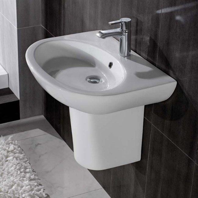 RAK - Infinity 50cm basin and Half pedestal profile large image view 4