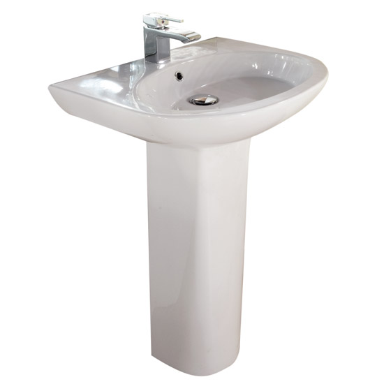RAK - Infinity 60cm basin and full pedestal Large Image