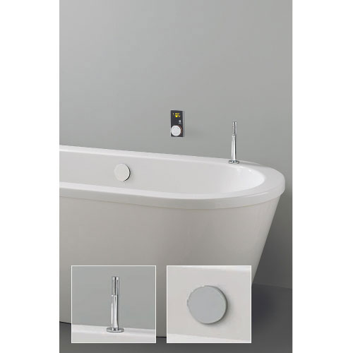 Crosswater Digital Infinity Elite Bath w Top Filling Bath Filler & Pull Out Hand Shower Large Image