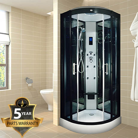 Insignia INS003 Hydro Massage Shower Cabin with Mirrored Backwalls 800 x 800mm