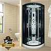 Insignia INS003 Hydro Massage Shower Cabin with Mirrored Backwalls 800 x 800mm profile small image view 1